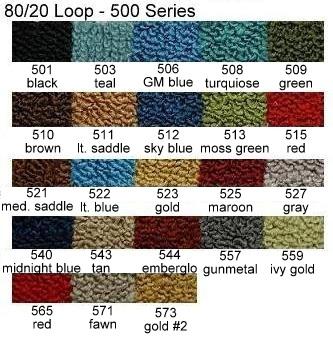 1966 1967 Caliente Molded Carpet Kit