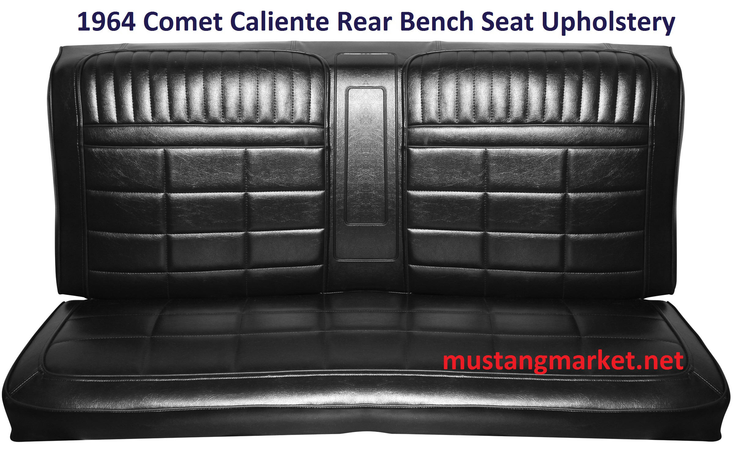 1964 Comet Caliente Bench Seat Upholstery. Full resolution  file, nominally Width 2400 Height 1472 pixels, file with #B3181E.