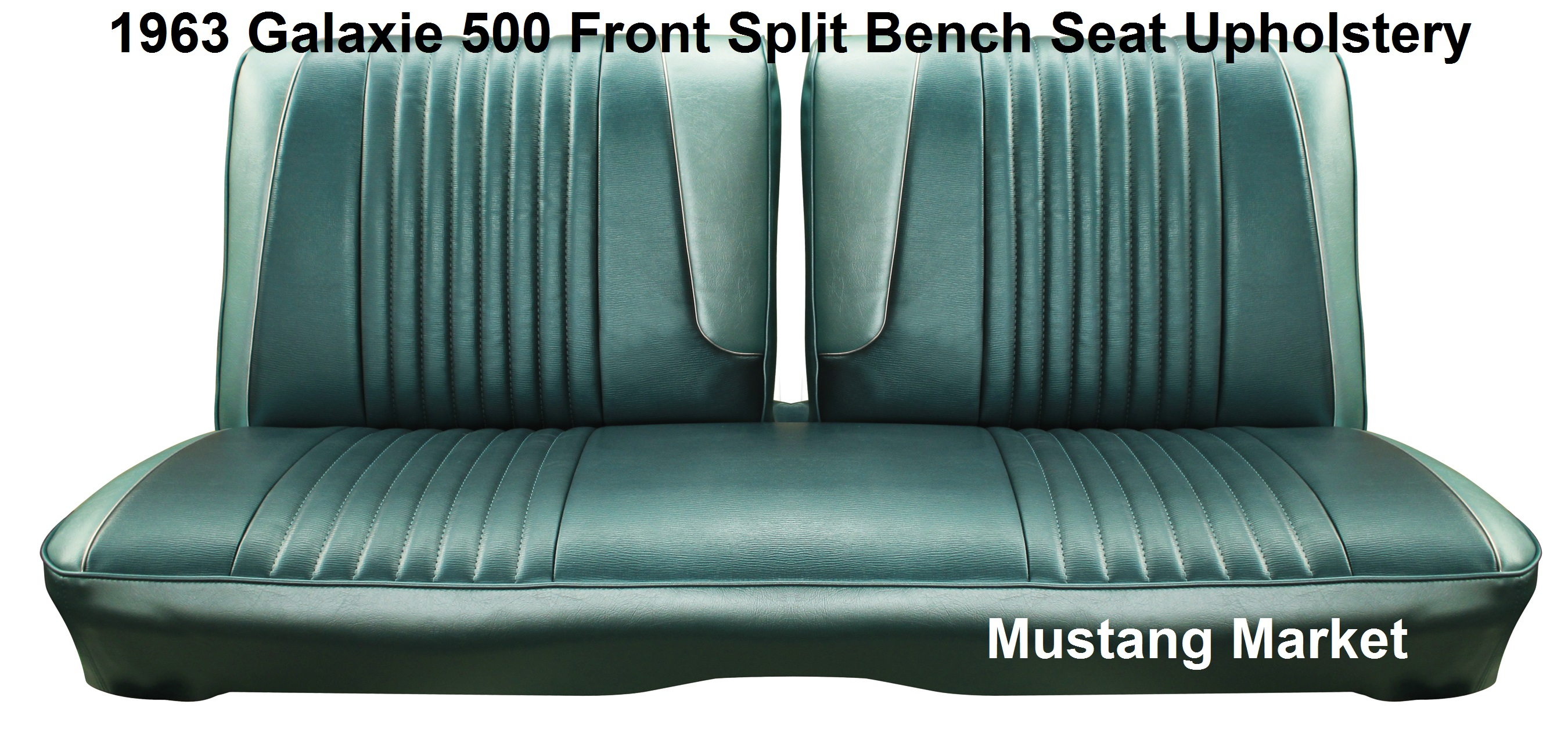Very Impressive portraiture of 1963 63 Galaxie Split Bench Seat Upholstery with #375456 color and 2700x1275 pixels