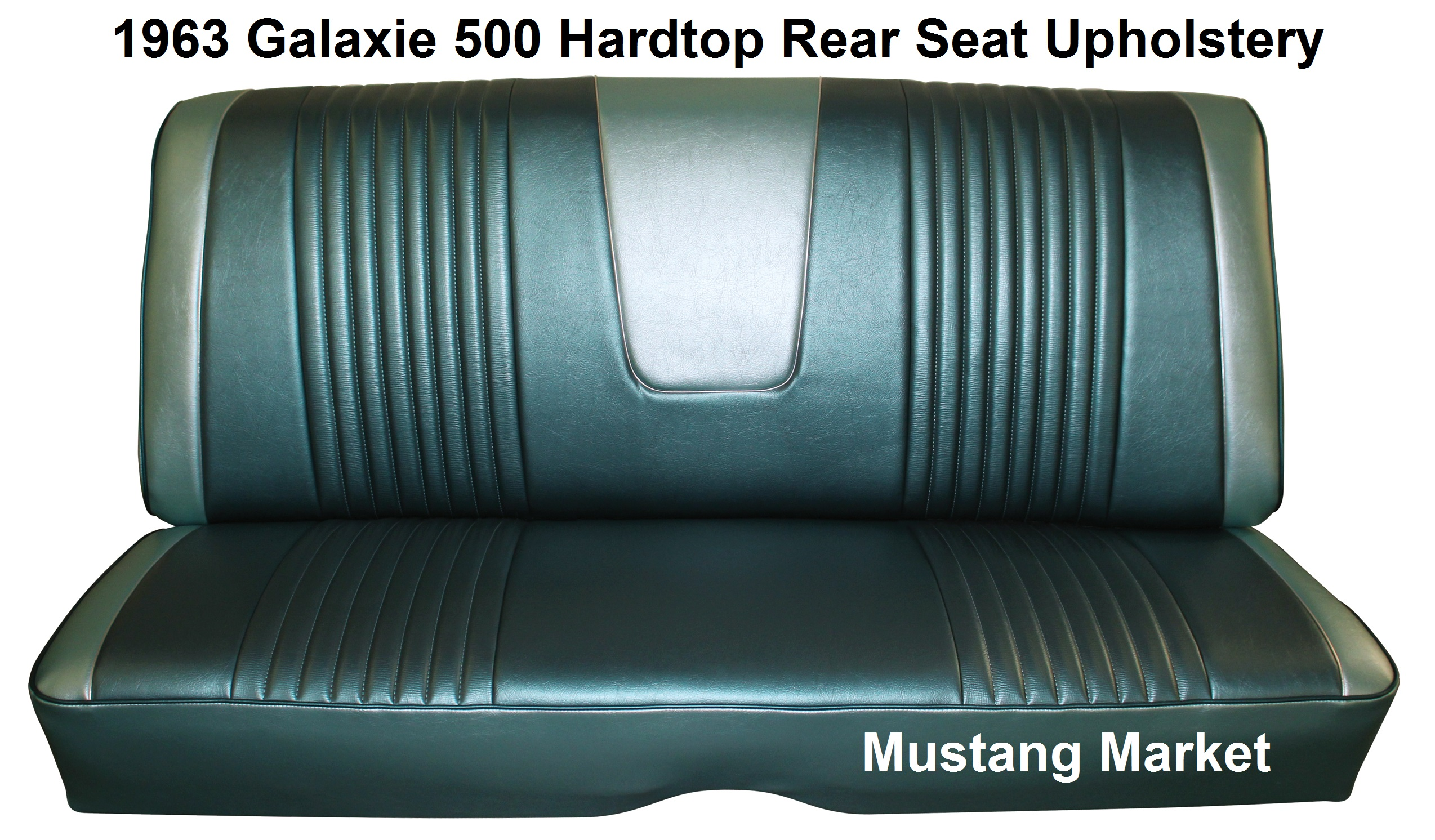 1963 63 Galaxie Split Bench Seat Upholstery. Full resolution  photo, nominally Width 2548 Height 1492 pixels, photo with #4B7880.