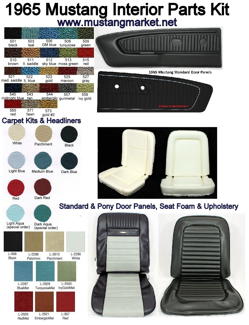 1965 Ford Mustang Interior Kits