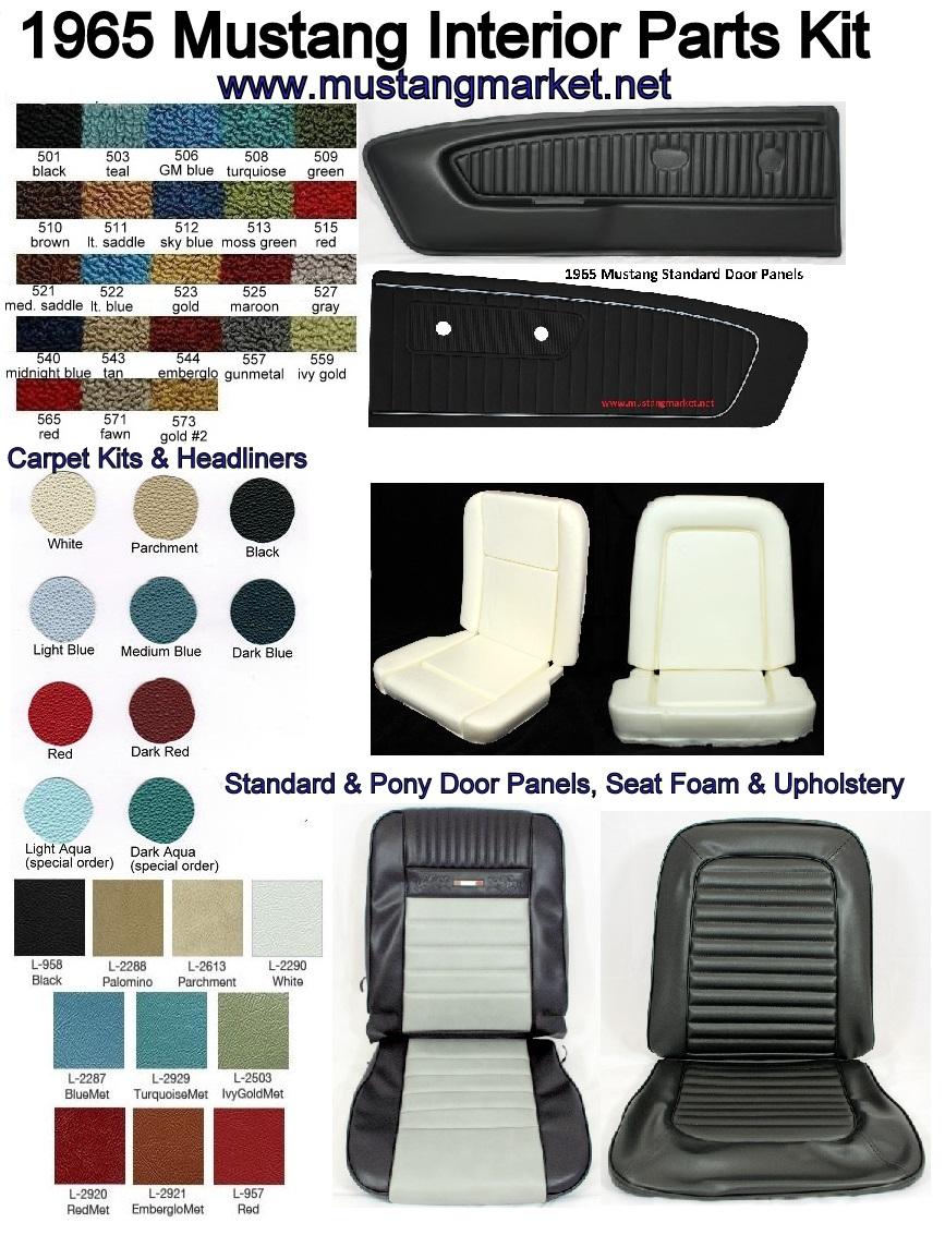 1965 65 Mustang Interior Kits Parts