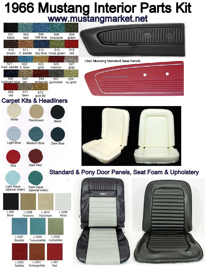 1966 Mustang Parts >> 1966 66 Mustang Interior Kit Parts
