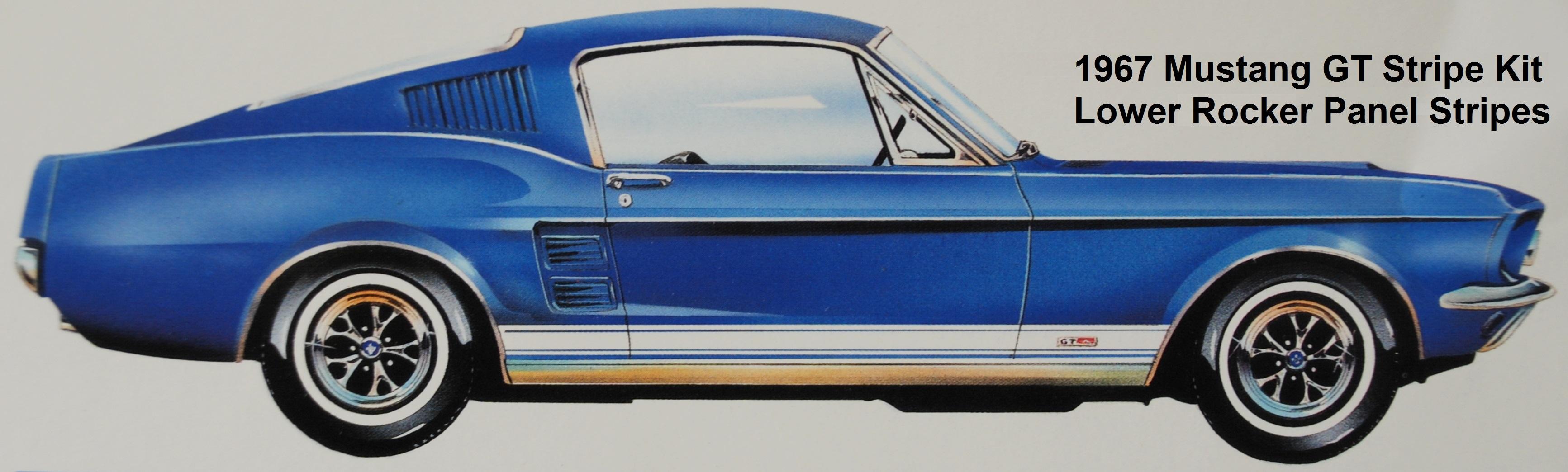 1967 67 Mustang Stripe Kit - Mustang GT Side Stripe