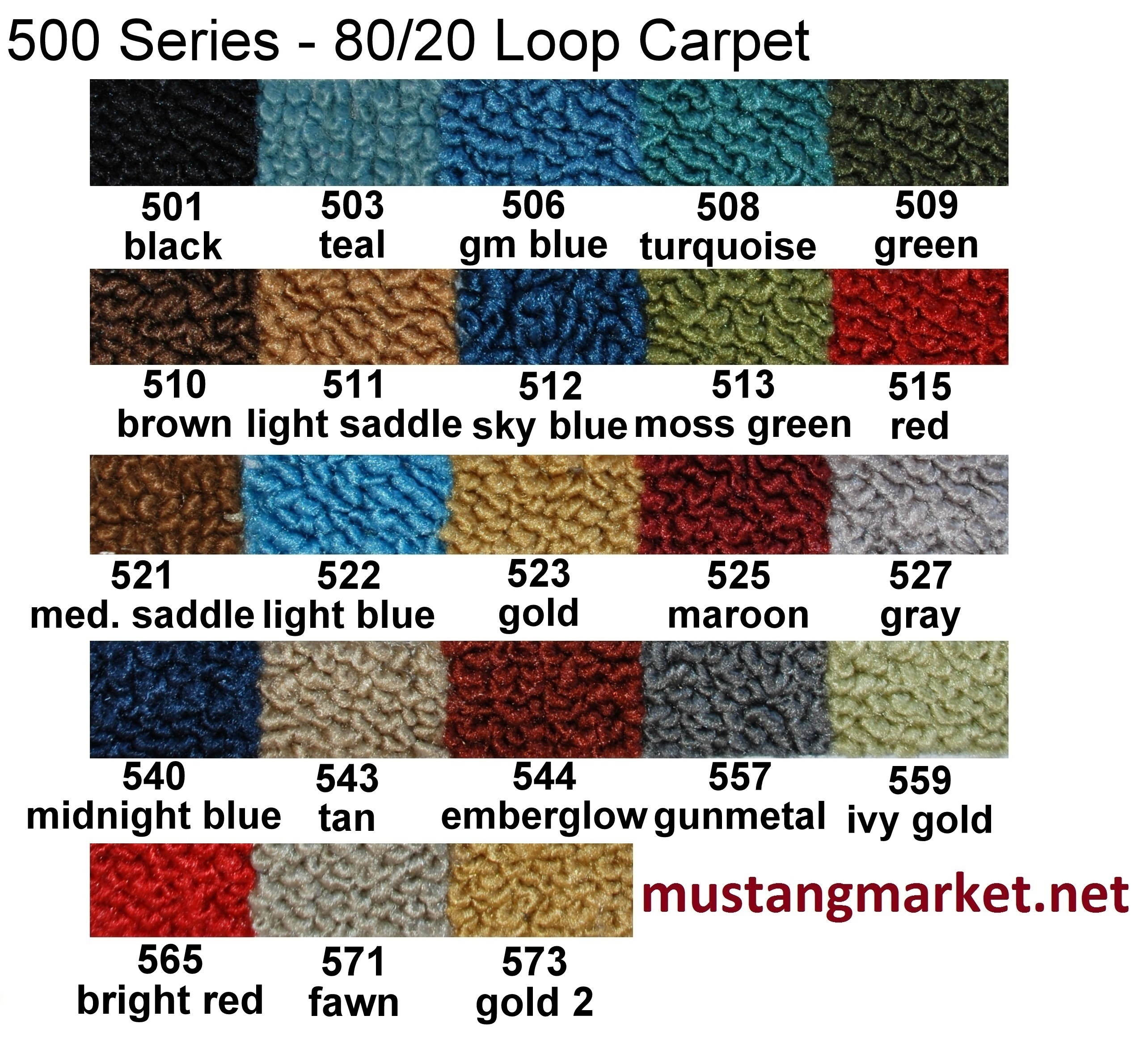 1968 1969 1970 1971 Torino Carpet