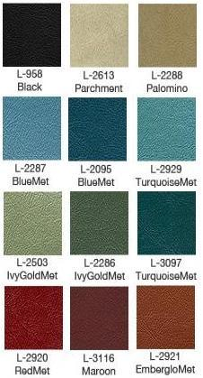 1966 Galaxie Bench Upholstery Colors