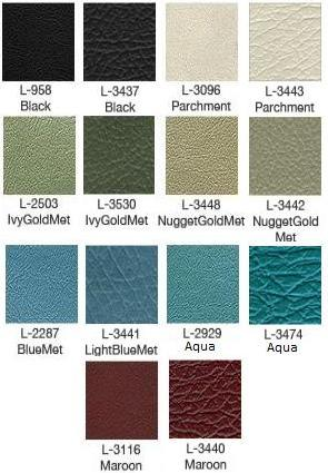 1968 Galaxie Bench Upholstery Colors